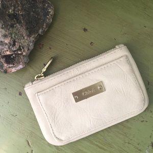 Chloe | Cream Leather Wallet